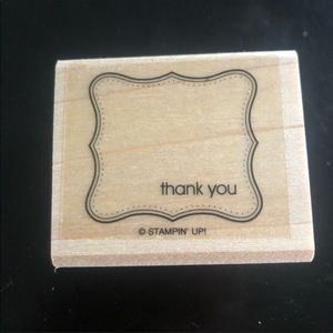 "💗HP💗✨3/$15 Stampin' Up ""Thank You"" Stamper"